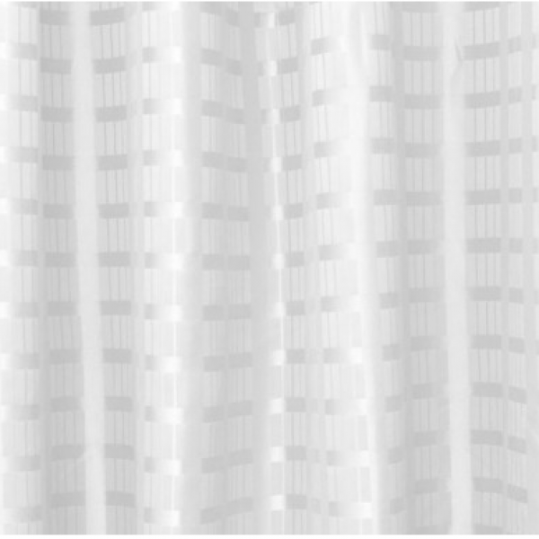 ML SC WBS 3018 Weighted Box Stripe Shower Curtain 3000 X 1800 White