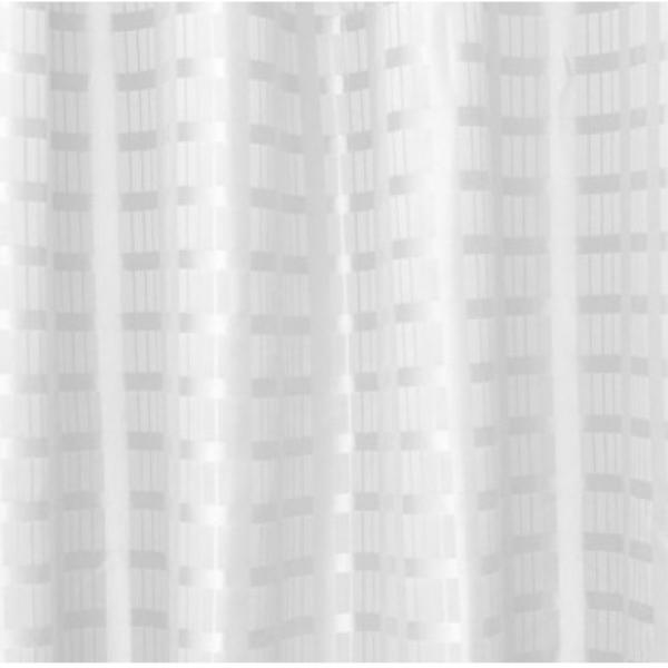 Weighted Box Stripe Shower Curtain  X  White Welcome - Gray and white striped shower curtain